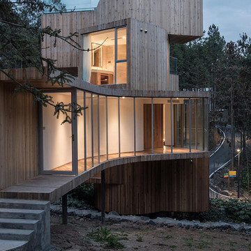 Tree House with a Touch of Modern Styling