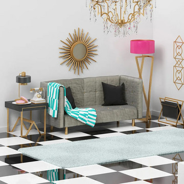 """""""The Simpsons"""" Living Room Reimagined"""