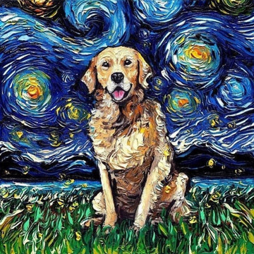 A Starry Night Improved, Starring Dogs