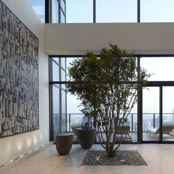 A Tree Grows Inside This Penthouse