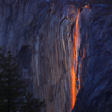 A Waterfall on Fire