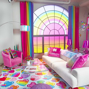 The Lisa Frank-Inspired Hotel Room