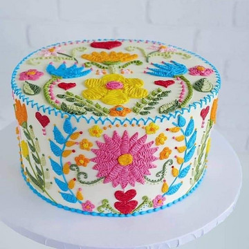 Embroidered Cakes are Almost too Good to Eat