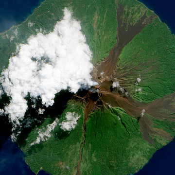 Volcano's Violence as Seen from Space